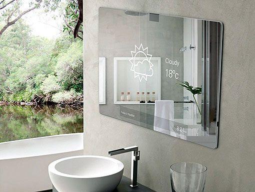 Espejo para cuartos de baño futuristas diseñado por Robert Grynkofki
