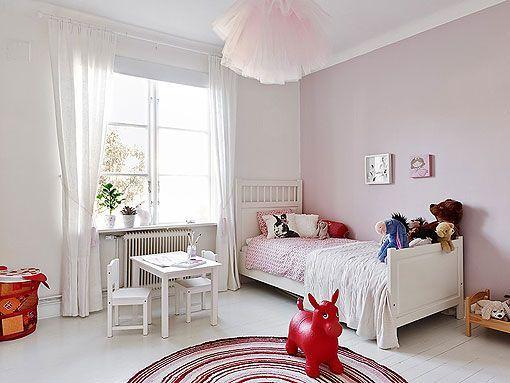 Habitacion Infantil En Rosa Y Blanco - Habitaciones-infantiles-en-blanco