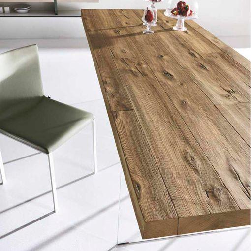 Mesa de madera maciza air wildwood de lago for Mesas de comedor madera natural