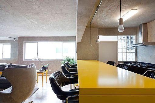 Decoración en gris y amarillo