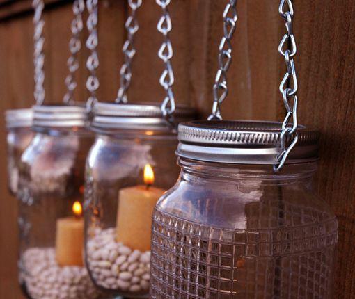 Velas en tarros de cristal para decorar la navidad for Tarros de cristal vintage