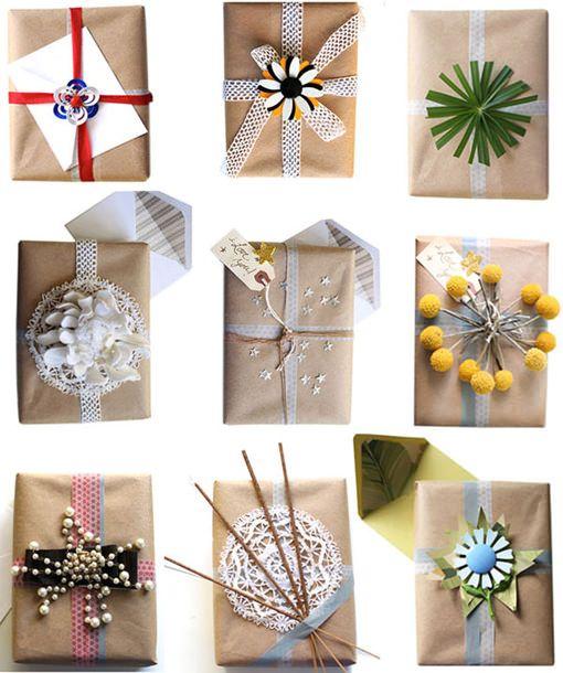 Ideas Para Envolver Regalos Con Materiales Reciclados - Ideas-para-navidad-regalos