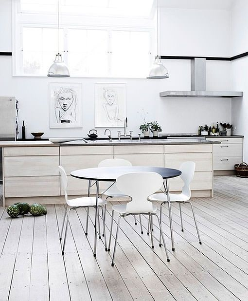 Muebles de madera en color blanco para un look escandinavo