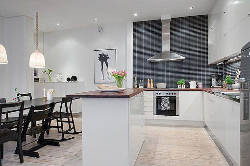 Moderna y espaciosa cocina con comedor y abierta al sal n for Cocina abierta modelo salon