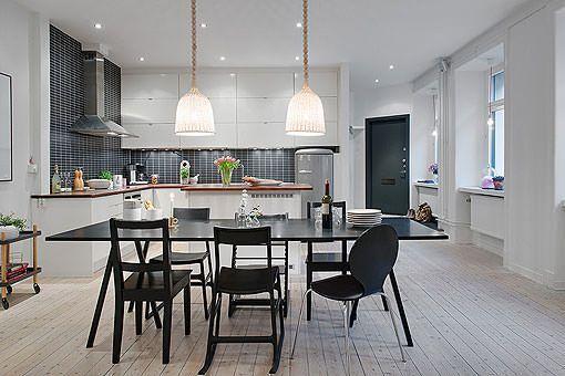 Moderna y espaciosa cocina con comedor y abierta al salón