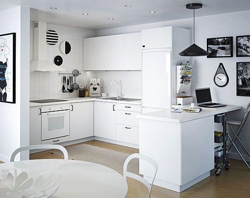 Cocinas blancas de todos los estilos luz amplitud y orden - Ikea complementos cocina ...