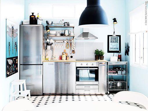 Ideas para distribuir y decorar una cocina pequeña