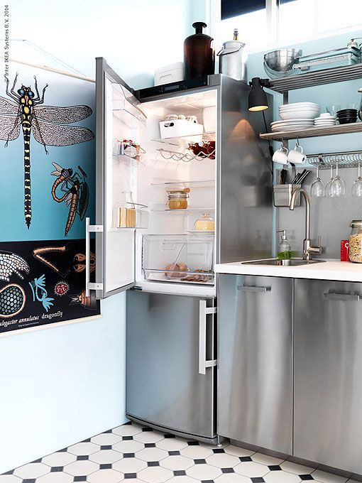 Ideas para distribuir y decorar una cocina peque a - Cocina pequena ikea ...
