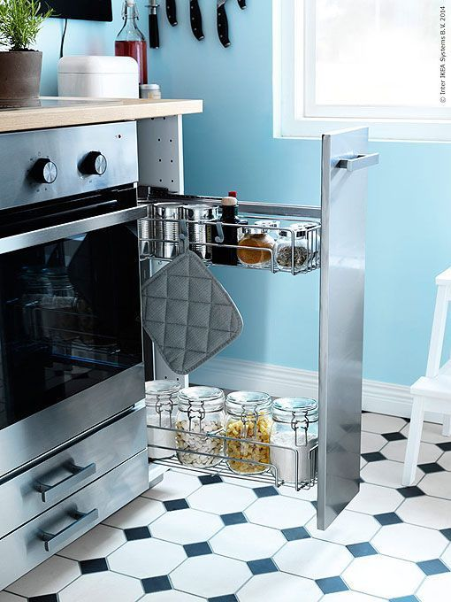 Ideas para distribuir y decorar una cocina peque a - Como distribuir una cocina cuadrada ...
