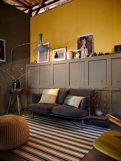 Pintar paredes en colores invernales - Pintura dorada para paredes ...