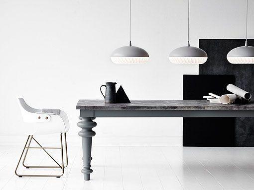 Lámparas de techo para comedores modernos, en acero y polipropileno