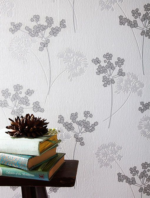 Papel pintado para paredes: estampados en relieve