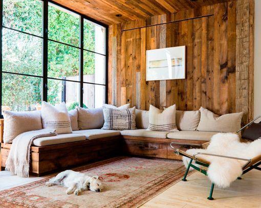 Salones r sticos modernos en blanco y madera - Salones rusticos modernos ...