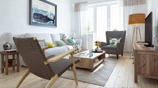 Un piso de 90 m2 con decoraci n r stica urbana for Casa moderna 90m2