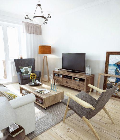 Un piso de 90 m2 con decoraci n r stica urbana for Decoracion rustica moderna