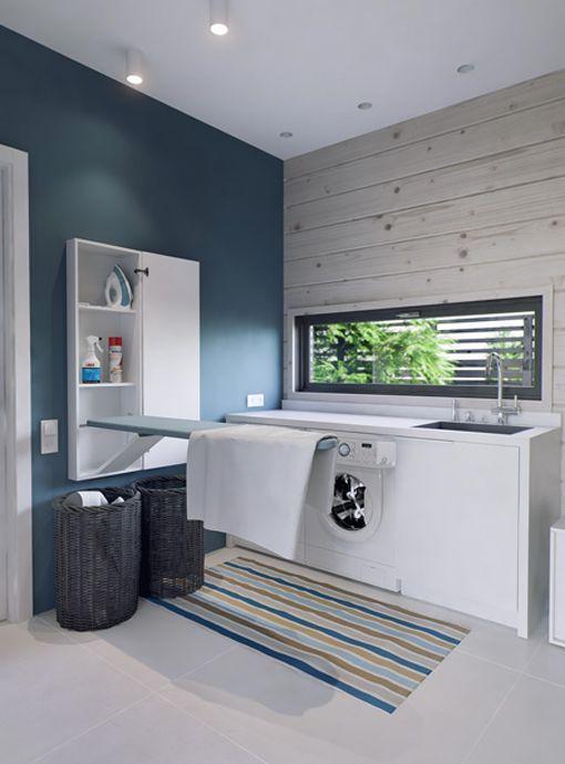 Ideas para crear una zona de lavado y plancha for Lavaderos modernos para ropa