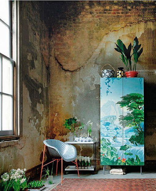 Vuelve la pintura decorativa en muebles - Papel pintado paisaje ...