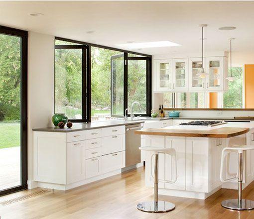 Cocinas abiertas al exterior for Ventanales tipo puerta