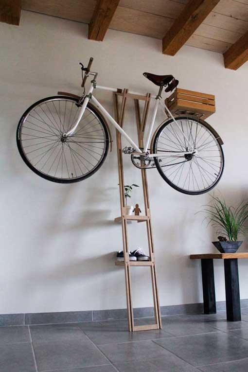 ... Soportes de pared para colgar bicicletas  a modo de escalera bb0c44d88e96