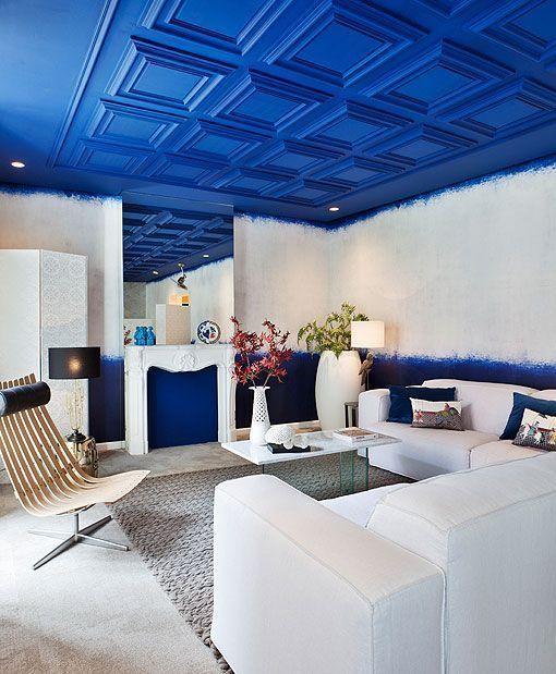 Un sal n de estilo mediterr neo en casa decor madrid 2014 - Muebles estilo mediterraneo ...