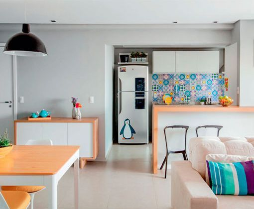 Apartamento de 90 metros con una decoración moderna y práctica