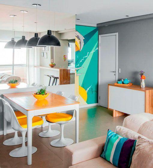 Apartamento de 90 metros con una decoraci n moderna y pr ctica for Decoracion para minidepartamentos