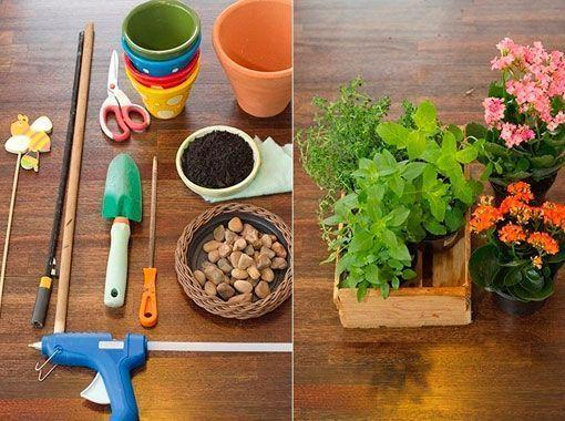 Una torre de macetas para cultivar hierbas arom ticas - Plantas aromaticas en la cocina ...