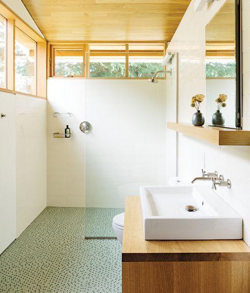 Cuartos de ba o con ducha y planta rectangular - Cuartos de bano modernos con ducha ...