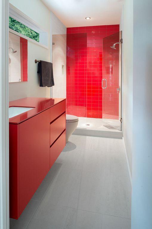 Cuartos de ba o con ducha y planta rectangular - Cuartos de aseo con ducha ...