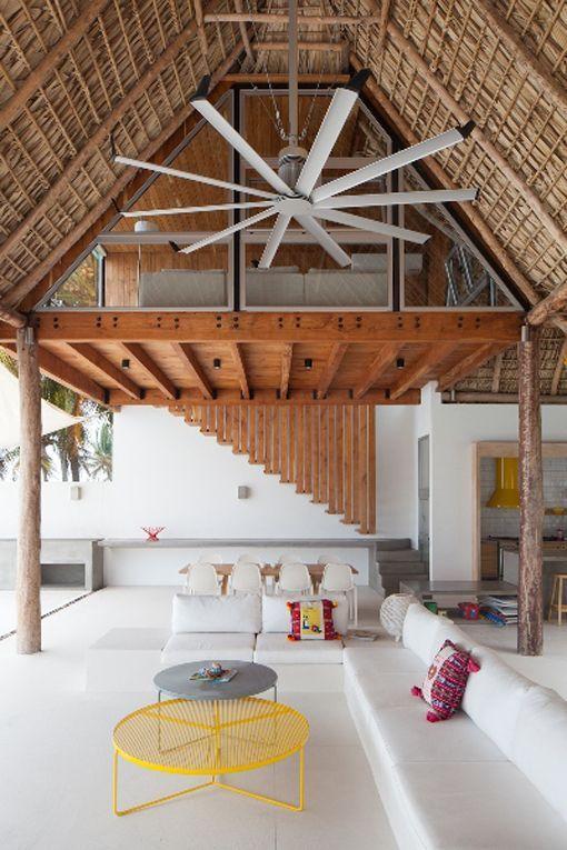 Casa de playa en un rancho de diseño en la costa de El Salvador