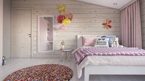 Dormitorio juvenil en la buhardilla - Decoracion paredes habitaciones juveniles ...