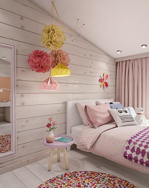 Dormitorio juvenil en la buhardilla - Decoracion habitacion de nina ...