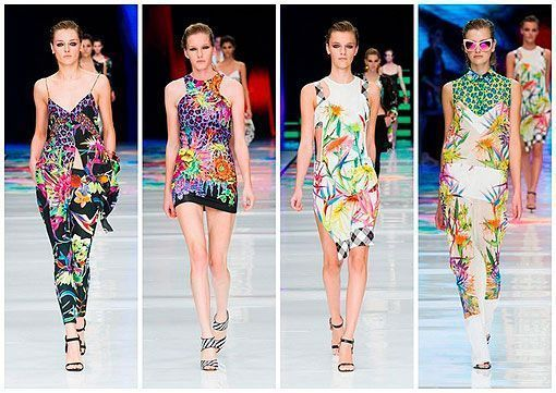 Estampados tropicales, desfile Just Cavalli
