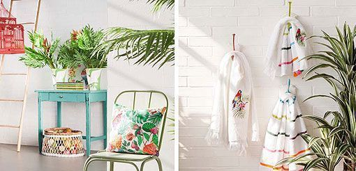 Estampados tropicales, Zara Home