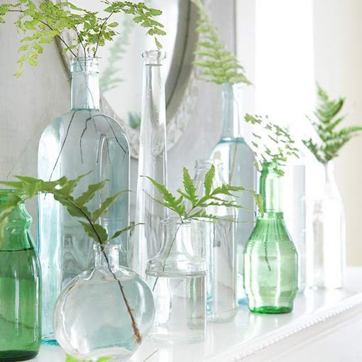 8 ideas decorativas para reciclar botellas y tarros for Reciclar botellas de vidrio