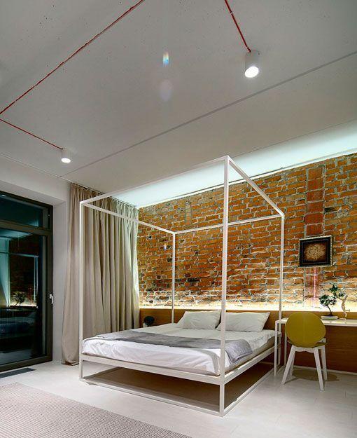 Ladrillo visto en interiores apartamento moderno de 90 m2 - Ladrillos decorativos para interiores ...
