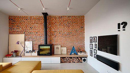Ladrillo visto en interiores apartamento moderno de 90 m2 - Ladrillo visto interior ...