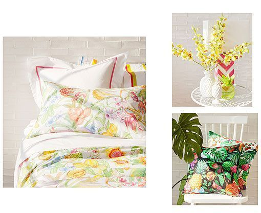 Estampados tropicales en Zara Home