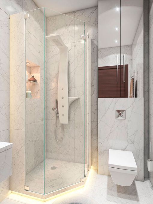 Dos apartamentos de 40 metros de estilos diferentes for Banos modernos para apartamentos