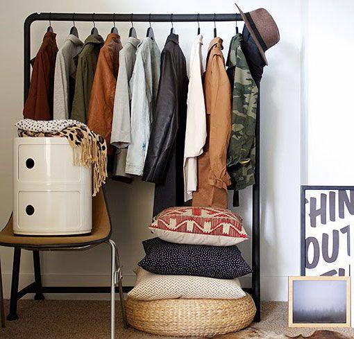 Armarios sin puertas todo son ventajas - Burro para colgar ropa ...