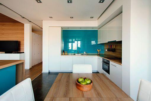 Cocina y comedor integrados en el sal n for Cocina y lavadero integrados