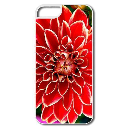 Funda para iphone5 con estampado de dalia