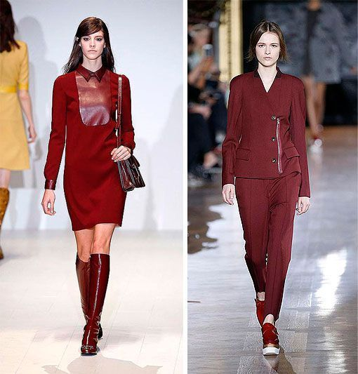 Burdeos color de moda en los desfiles Gucci y Stella Mccartney