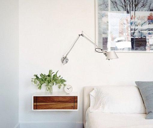 Mesitas de noche flotantes para decorar dormitorios mini for Mesitas blancas baratas