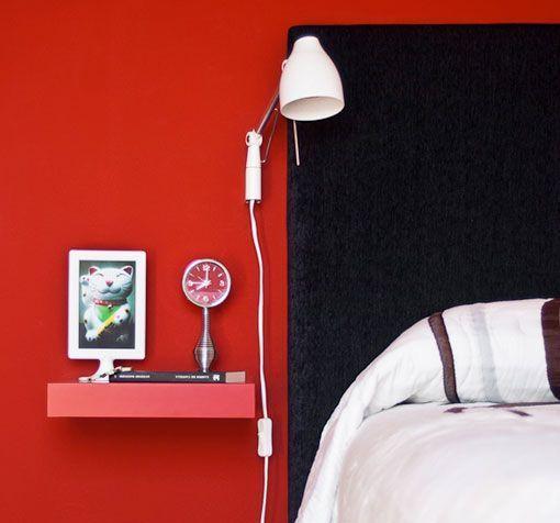 mesitas de noche flotantes para decorar dormitorios mini