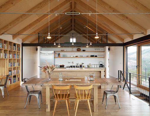 Ideas para crear zonas de comer en la cocina - Salon y cocina integrados ...