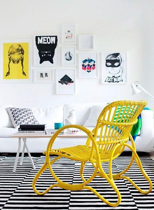 8 salones con toques de color
