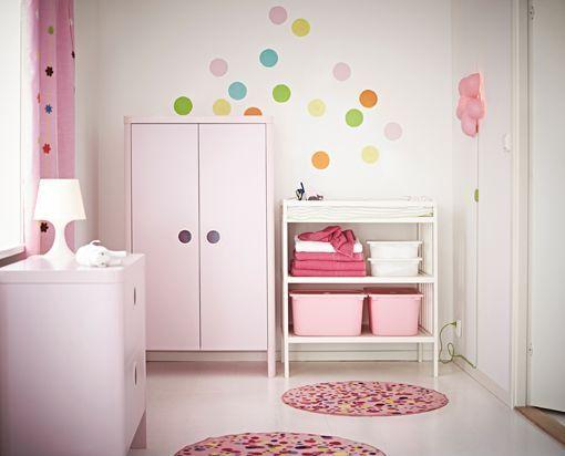 C mo decorar habitaciones infantiles en color rosa sin - Habitaciones infantiles decoracion paredes ...