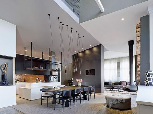 Apartamento de Europa O'Conell Loft_moderno_de_dos_plantas