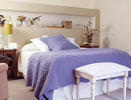 Soluciones de obra para aprovechar la pared del cabecero - Como decorar la pared del cabecero de la cama ...
